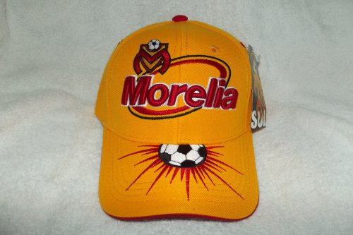 fan products of New! SOL Yellow Morelia Fútbol Club Monarcas 3D Embroidered Adjustable Velcro Back Cap Soccer Hat