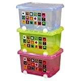 Set of 3 Large Storage Containers with wheels