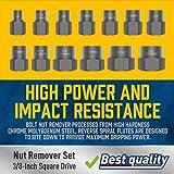 Amartisan Impact Bolt Extractor Tool, 13PC Bolt Nut