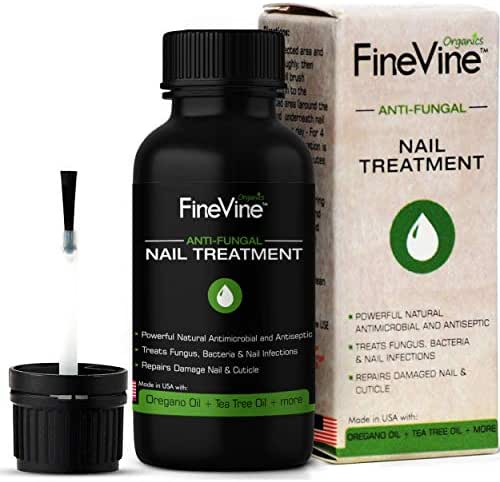 Extra Strong Finger & Toenail Fungus Treatment| Organic & USA Made Nail Fungus Treat-Ment| Cure Athlete's Foot & Infected Nails with Our Fungus Treatment| Best Antiseptic Toe Nail Fungus Treatment
