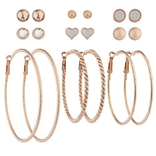 Heart Hoop Earring Set - 5