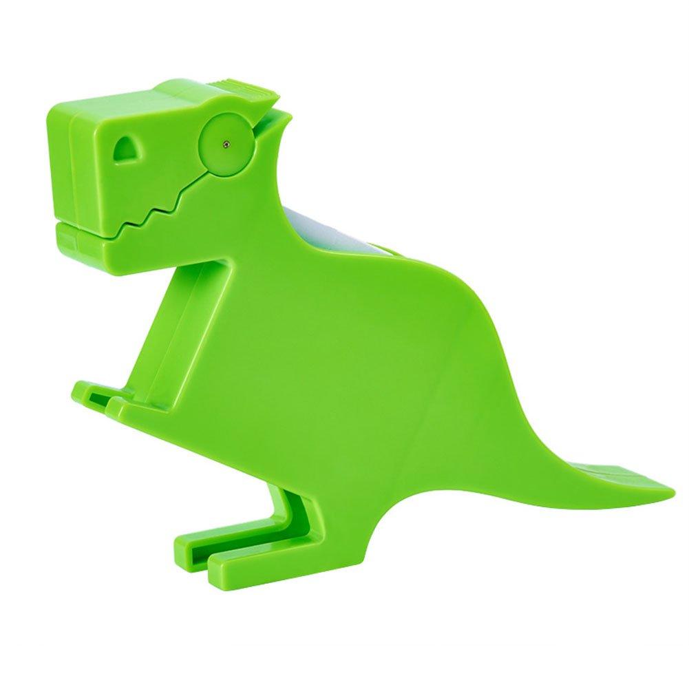 Lzttyee Animal Shape Multi-functional Plastic Memo Holder/Note Dispenser/Desktop Note Pad/Pen Holder with 200 Sheets Memo Pad for Office School Supplies (Dinosaur Green)