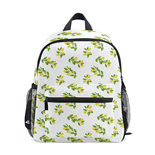 School Children's backpack Perfect for Preschool, Daycare, and Day Trips Long Lemon The Leaves