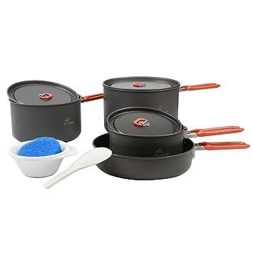 Fire-maple Arcilla de fuego al aire libre camping ollas sartenes juego de cocina picnic