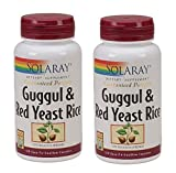 Solaray – Guggul & Red Yeast Rice, 120 capsules (Pack of 2) For Sale