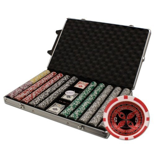 Brybelly 1000-Count Ultimate Poker Chip Set in Rolling Aluminum Case, 14gm by Brybelly