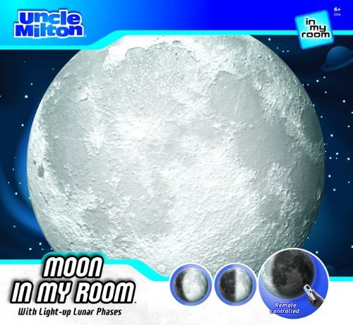 Uncle Milton Moon In My Room Remote Control Wall Décor Night Light