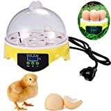 Gracelove Mini Digital Transparent 7 Egg Incubator Chicken Duck Goose Egg Hatcher (Transparent)