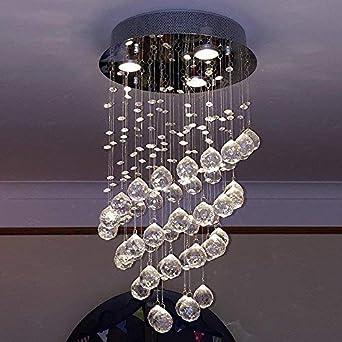 Lightess Lustre En Cristal Led 3gu10 Moderne Plafonnier Luminaire