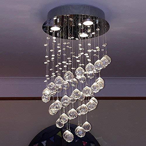 Glighone Lámpara Colgante Cristal 3*GU10 LED 50W Lámpara de ...