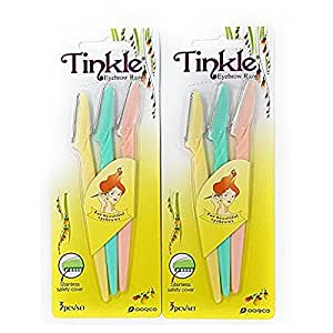 Tinkle Eyebrow Razor Pack of 6