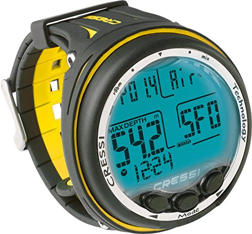 Cressi Giotto Wrist Computer, Black/Yellow