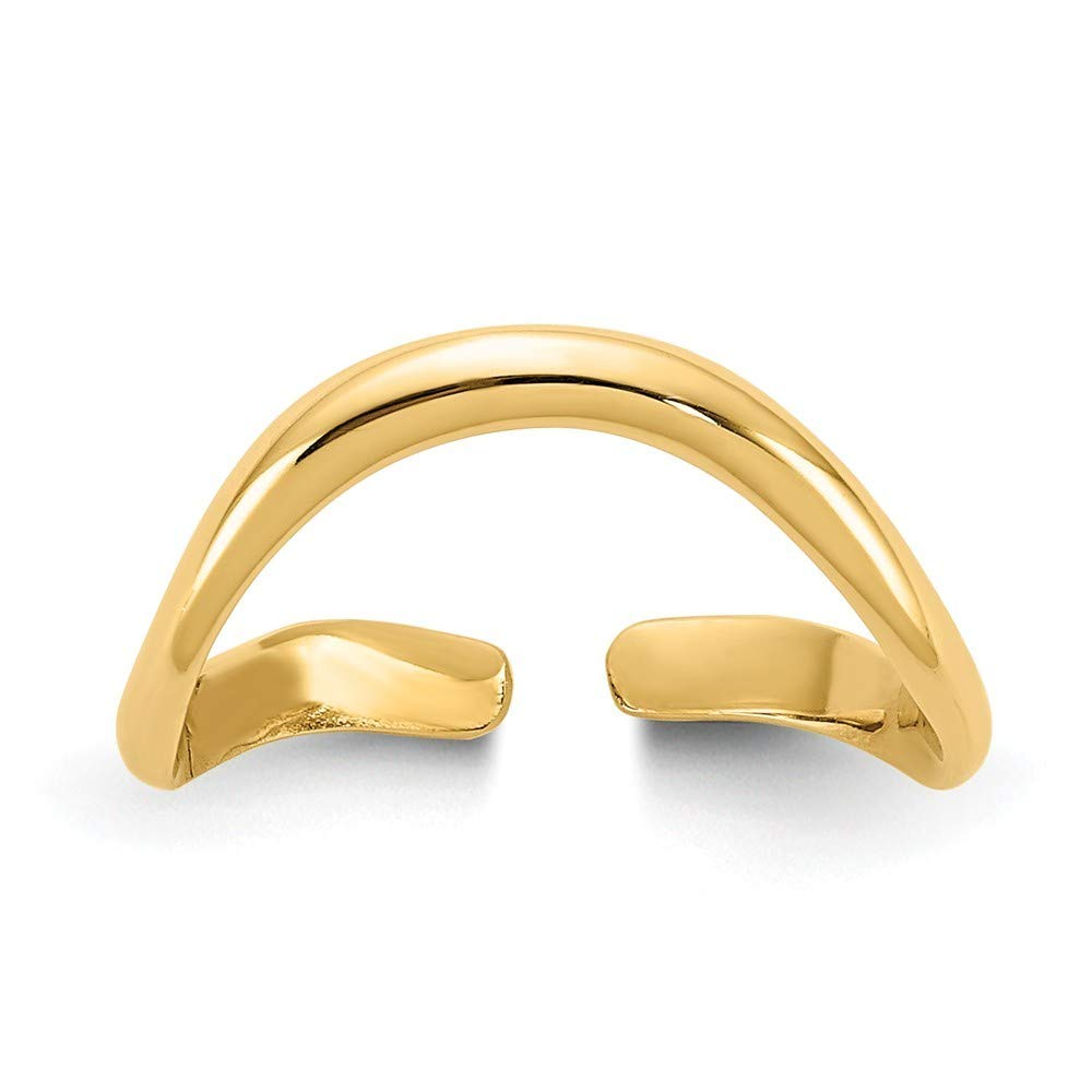 Roy Rose Jewelry 14K Yellow Gold Polished Toe Ring by Roy Rose Jewelry