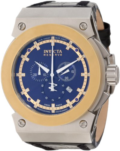 Invicta Men's 10952 Akula Reserve Chronograph Blue Textured Dial Watch (Watch Blue Dial Textured)