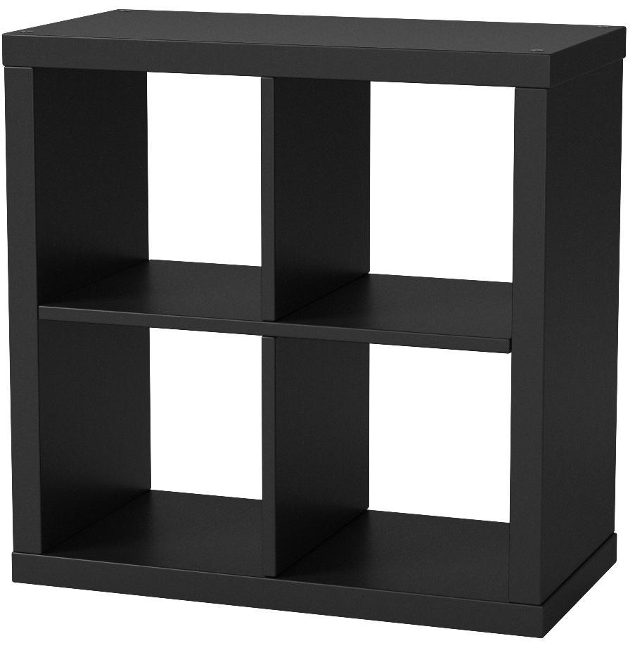 Ikea, estantería Modular de la Serie Kallax, Ideal para cestas o Cajas, 77 x 77 cm, Color Negro, marrón