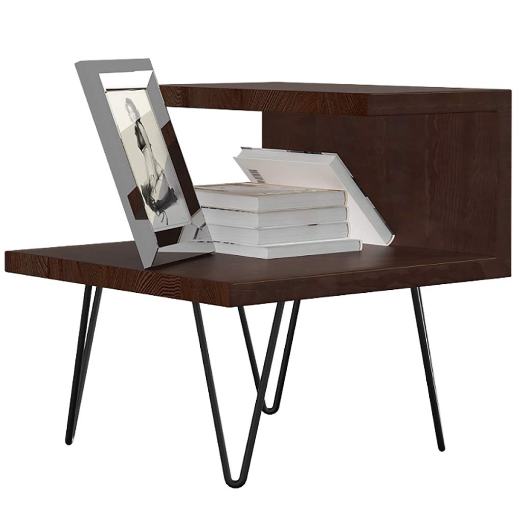 LQQGXLBedside Table Simple Modern Bedside Table Assembly Nordic Bedroom Simple Locker Small Side Table (Color : Walnut) by LQQGXL