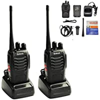 Galwad-888S Walkie Talkie 2pcs in One Box with Rechargeable Battery Headphone Charger Long Range 16 Channels Two Way Radio (2 Pack of Radios)
