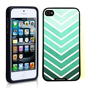Case For HTC One M7 Cover Thinshell Case Protective Case For HTC One M7 Cover Teal And Green Big Chevron