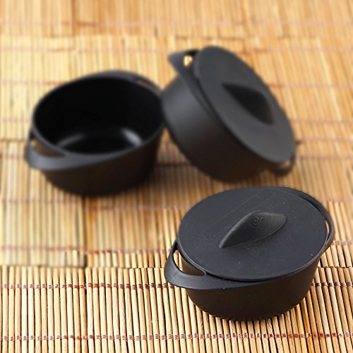 (Efavormart 30 Pcs - Black Mini 3oz Dessert/Appetizer Pot Tableware For Wedding Banquet Event Party Decoration)