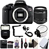 Canon EOS Rebel T6i 24.2MP Digital SLR Camera with 18-55mm EF-IS STM Lens , 430EX lll Non RT Flash and Accessory Bundle