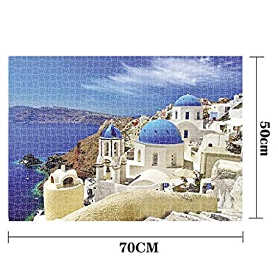 Kanzd Jigsaw Puzzle 1000 Pieces for Adults, Landscape Pattern Adult Children Puzzle Puzzle Intellective Educational Toy (C): Toys & Games