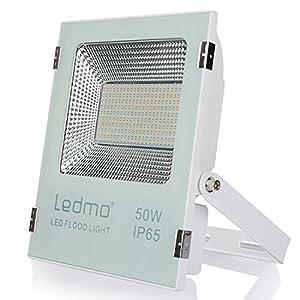 50W Projecteur Led Exterieur Blanc chaud Spot Led Extérieur AC85-265 IP65 étanche,projecteur led 2700K, 4500lm, 250W Équivalent d'halogène Projecteur jardin led Flood lights