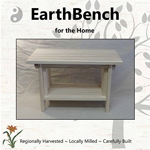 Deluxe Children's Personal Sitting Bench (20''×11''×13'' tall) UNFINISHED PINE - Made in the USA by EarthBench for the Home
