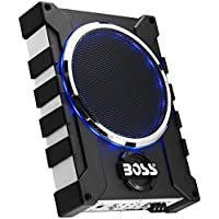 Boss Audio Systems R4002 BOSS Audio BASS1600 1600 Watt Low Profile Amplified 10 Inch Subwoofer with Remote Subwoofer Control