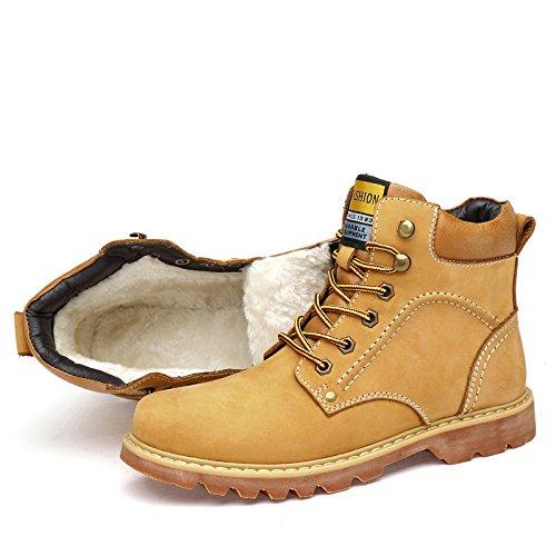 Work Martin Vintage Warm Uomo Scarpe Stringate Yellow Lacci con da fntY0Fx