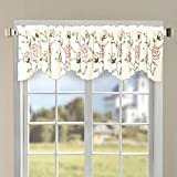 """Serenta Classic Embroidery Valance, 60""""x19"""" (Gold Sun Flowers)"""