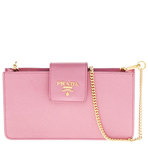 Prada Women's Saffiano Cellphone Case Pink