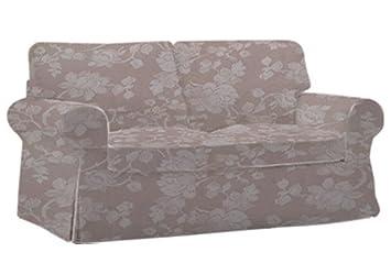 Herzers Stoffbezug Für Ikea Ektorp 2er Sofa Blumen Beige Amazonde