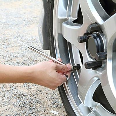 Hotop 2 Pack Tire Gauges Tire Pressure Gauges, Pencil Style (Black): Automotive