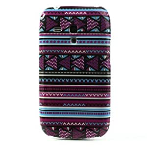 JUJEO Tribal Tribe Stripes Hard Protective Cover for Samsung Galaxy S3/III Mini i8190, Non-Retail Packaging, Multi Color