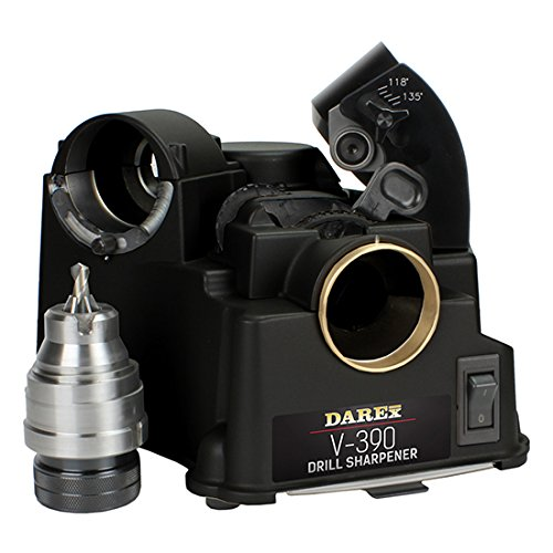 "DAREX Drill Bit Sharpener - Model : V390 Capacity: 1/8"" to 3/4"""