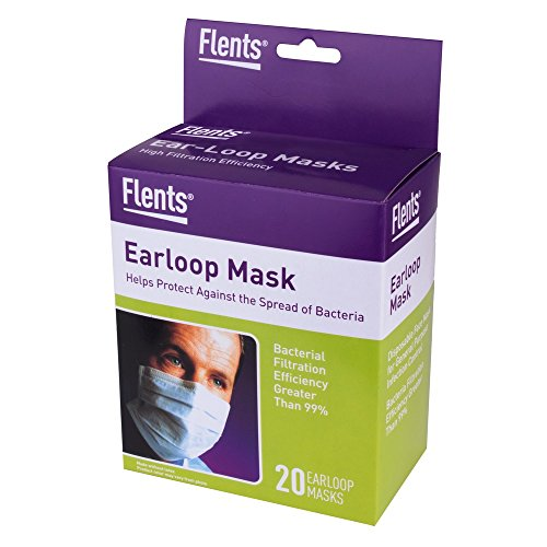 Flents High Filtration Efficiency, Ear-Loop Mask - 20 ea