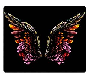 Wings of an Angel Mouse Pads Customized Made to Order Support Ready 9 7/8 Inch (250mm) X 7 7/8 Inch (200mm) X 1/16 Inch (2mm) High Quality Eco Friendly Cloth with Neoprene Rubber MSD Mouse Pad Desktop Mousepad Laptop Mousepads Comfortable Computer Mouse Mat Cute Gaming Mouse_pad