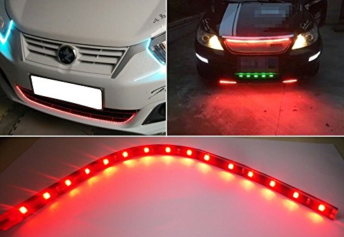 XT AUTO 8pcs 12V Super Bright 30cm 15 LED Flexible Waterproof LED Strip light For Car Interior /& Exterior Decoration DRL Day Running Light Or Boat Bus Garden