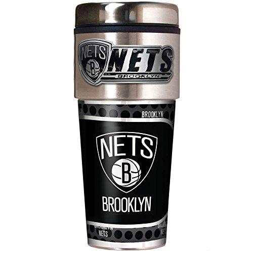 NBA Brooklyn Nets Metallic Travel Tumbler,  16-Ounce