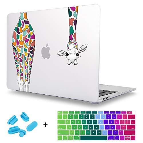 Maychen MacBook Compatible Colorful Giraffe