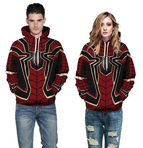 Fashion Men Women Avengers Infinity War Spiderman Hoodie Iron Spider-Man Coat Jacket Cosplay Costume Novelty Sweatshirts Dark Red