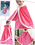 Party Chili Fur Princess Cape Fur Hooded Cloaks