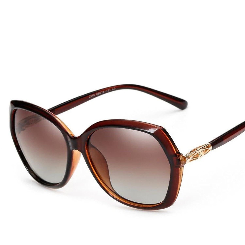 7c43a666e8 MOGUU Las Señoras Y Las Muchachas Polarizador Estupendo Grande Clasifican Las  Gafas De Sol Elegantes Retros