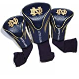 Team Golf NCAA Notre Dame Fighting Irish Contour Golf Club Headcovers (3 Count), Numbered 1, 3, & X, Fits Oversized Drivers, Utility, Rescue & Fairway Clubs, Velour lined for Extra Club Protection