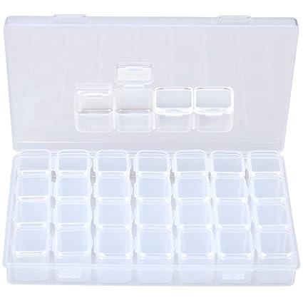 Siming 28 rejillas cajas de almacenamiento ajustables ...