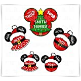 Personalized Disney Inspired Christmas Santa Magnet. Handmade Disney Cruise Magnet. Mickey Minnie Magnet. Stateroom Decor.