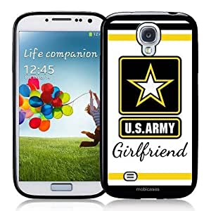Cool Painting US Army Girlfriend Star - Protective Designer BLACK Case - Fits Samsung Galaxy S4 i9500