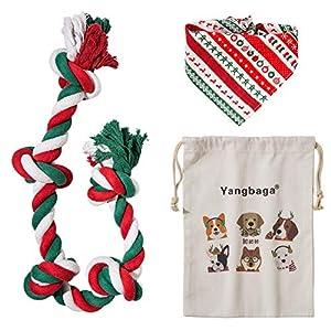 Yangbaga Juguetes de Cuerda para Perros Grandes Cuerda Masticar 5 Nudos(92cm) para Perros Grande y Medio con Pañuelo para Perros y Bolsa de Tela Perros