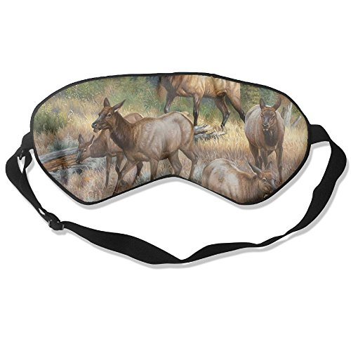 Goods Shops Mulberry Silk Sleeping Masks Nature Deers Eyepatch Eye Masks Adjustable Sleeping Eye Shade ()