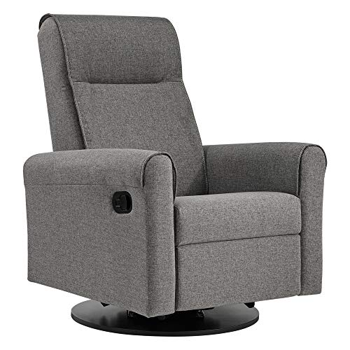 Dutailier Swivel Glider - Dutailier Nolita 0523 Upholstered Glider Recline and Swivel with Built-in Footrest